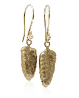 bronze nature's hearts grass seed earrings
