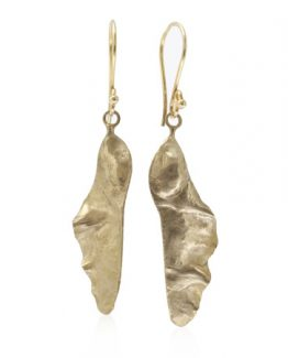 bronze helicopter seed pod earrings