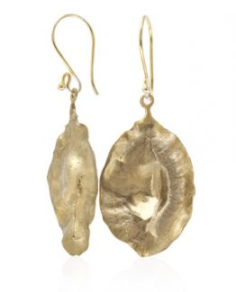 bronze cluster leaf seed pod earrings