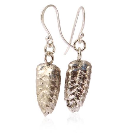 sterling silver grass seed earrings